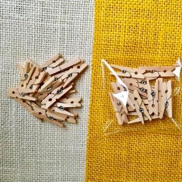 Mini pinza de madera