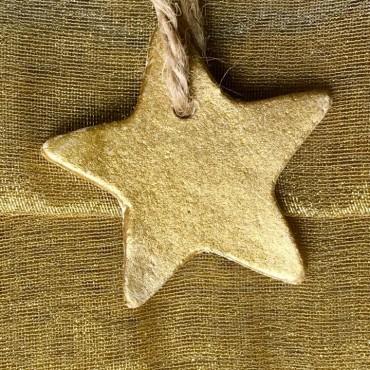 Estrella oro y plata