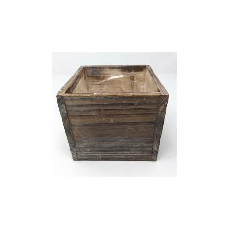 Centro de mesa en madera marrón