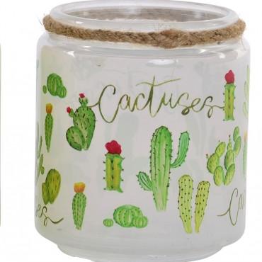 Vaso cristal cactus