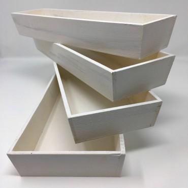 Bandejas madera blanca