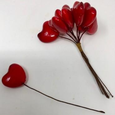 Corazón rojo en stick